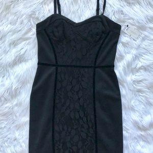 NWT Jessica Simpson black mini dress